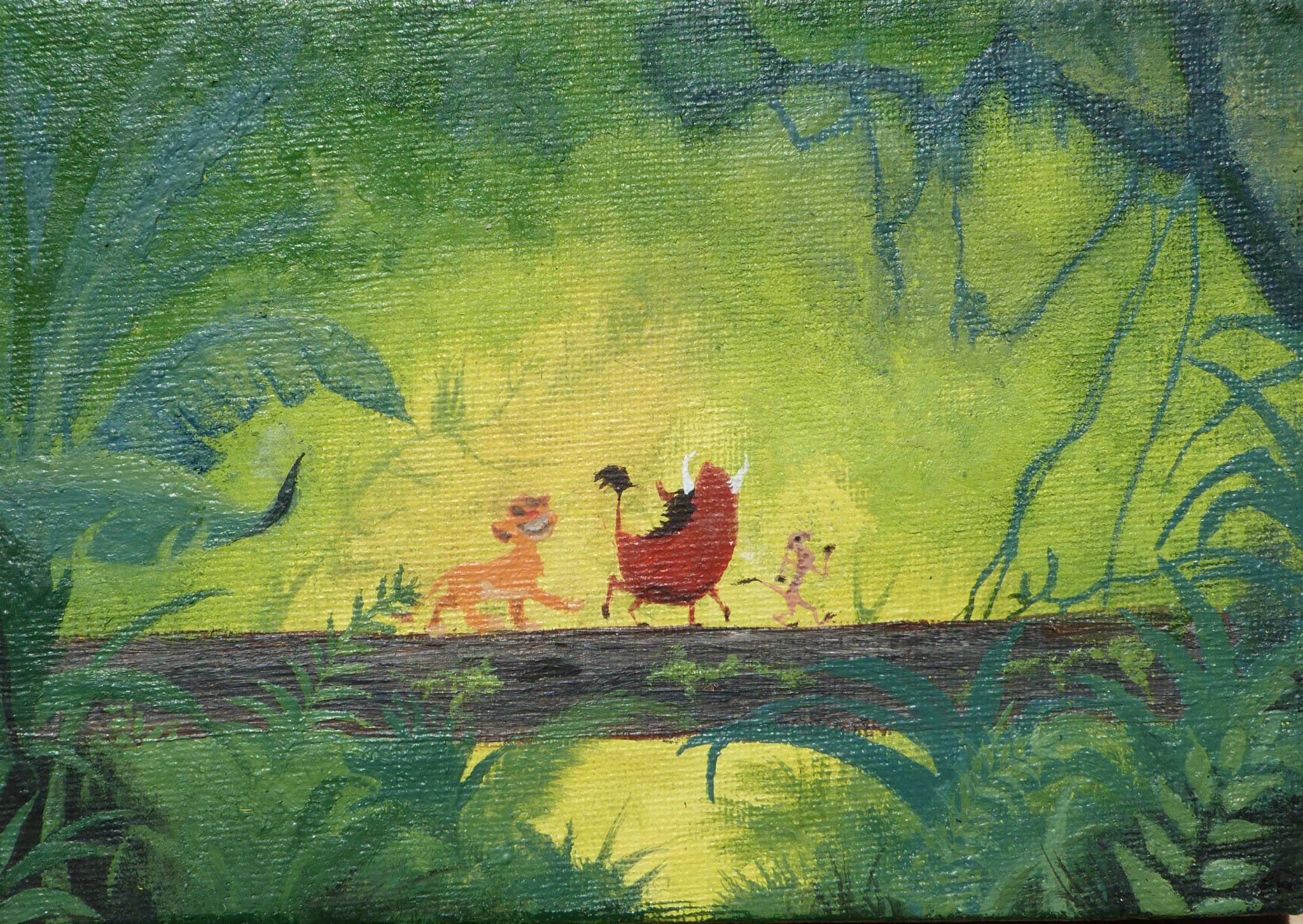 hakuna #matata #Acrylic #paint #lion #king #canvas #painting #simba ...
