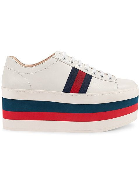 GUCCI Leather Low-Top Platform Sneaker.  gucci  shoes  sneaker ... c092ad117fa