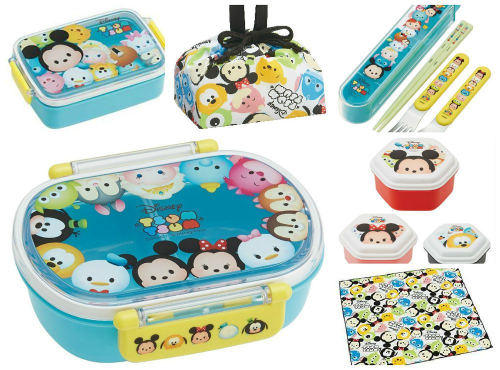 Disney Tsum Tsum Lunch Cross Bento Lunch Box Case Bag