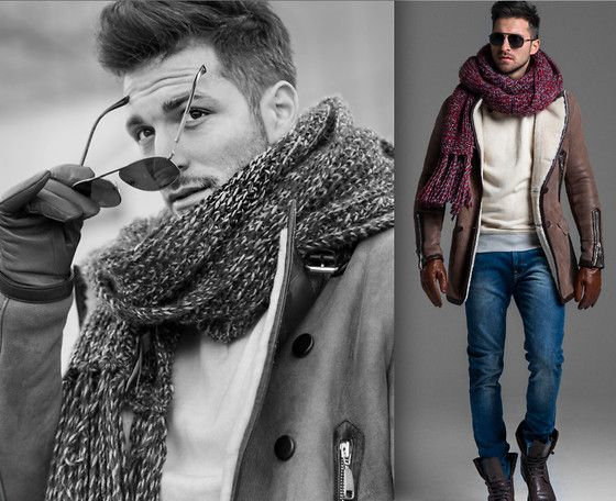 Rage Age Coat, Lev Sweater, Lee Trousers, Zara Shawl, Kazar Shoes, H&M Gloves, Giorgio Armani Sunglasses