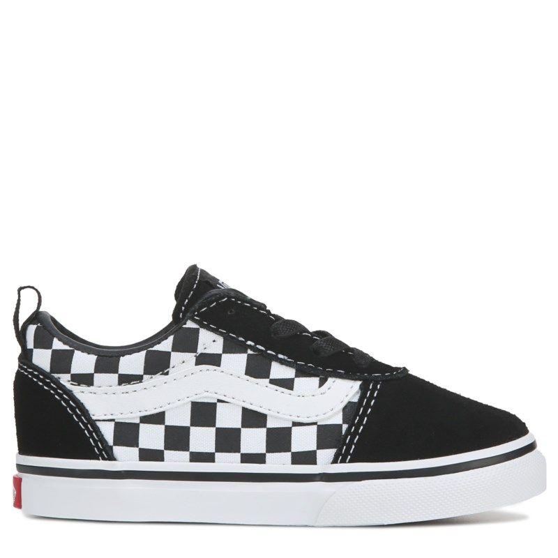 f058e8fbfa62ef Vans Kids  Ward Low Sneaker Toddler Shoes (Checkerboard Black)