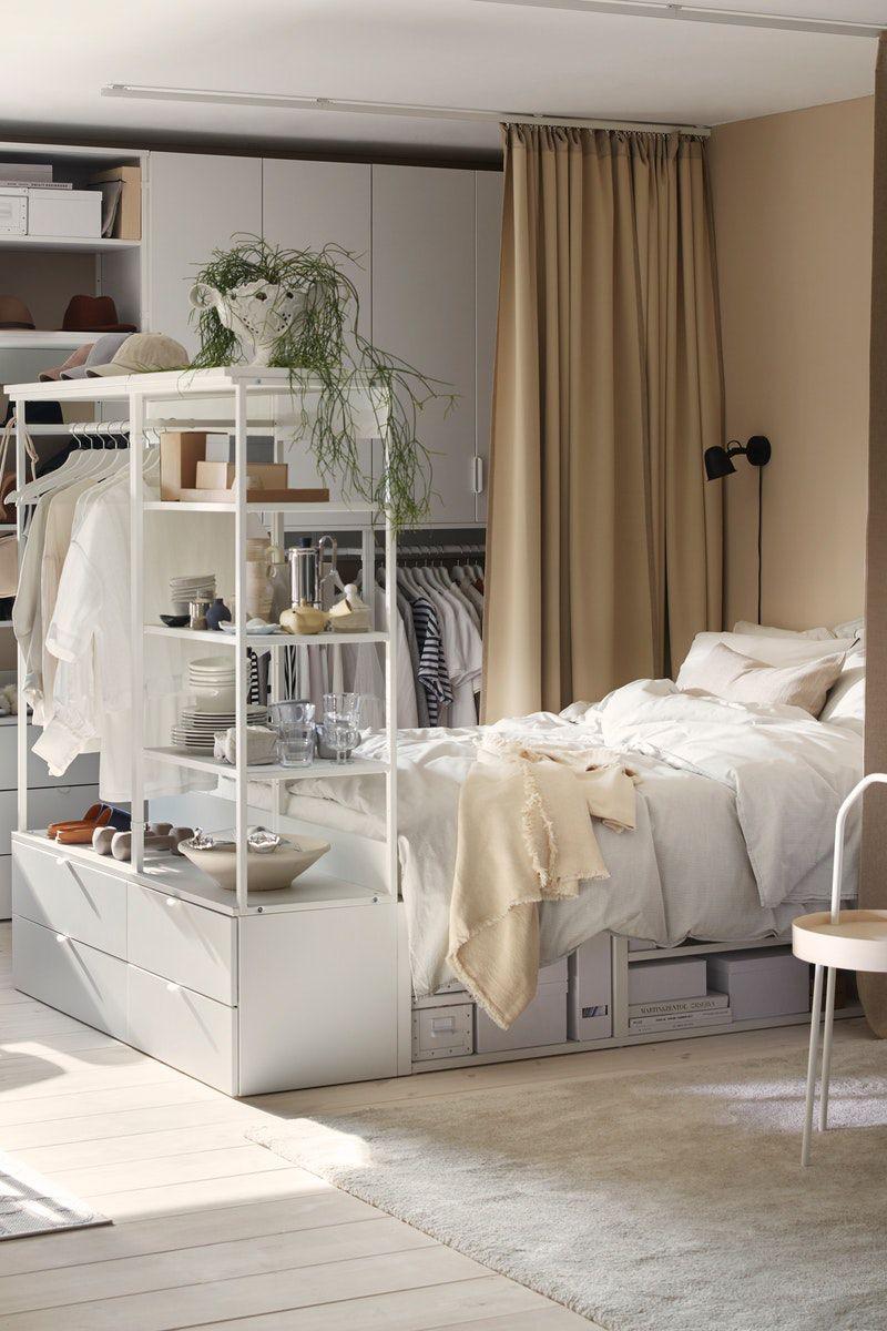 Platsa Bettgestell Mit Aufbewahrung Weiss In Den Warenkorb Legen Ikea Deutschland In 2020 Wohnung Zimmer Einrichten Jugendzimmer Wohnung Schlafzimmer