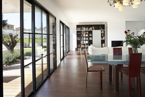 Portes fen tre coulissantes projet maison pinterest for Grande fenetre coulissante