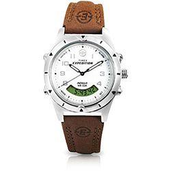 17e70d72864 Relógio Masculino Analógico Digital Expedition Caixa Aço e Pulseira em Couro  TI44642S - Timex