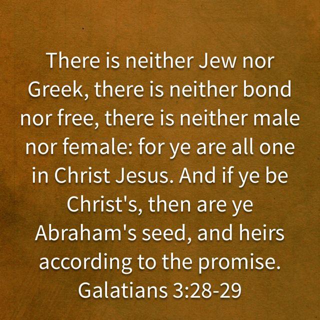 Galatians 3:28-29 KJV | Galatians, Jesus christ, Kjv