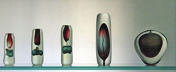 isabelle monod verre contemporain art glass vases. Black Bedroom Furniture Sets. Home Design Ideas