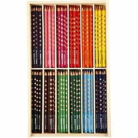 #Groove Dunne #Kleurpotloden, vulling: 3,3 mm, l: 18 cm, 144 assorti