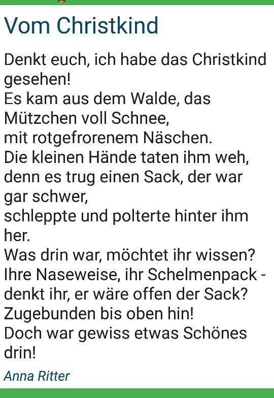 Pin Von Sabine Reimus Auf Gedichte Gedicht Weihnachten Weihnachtsgedichte Weihnachtsgeschichte Kinder
