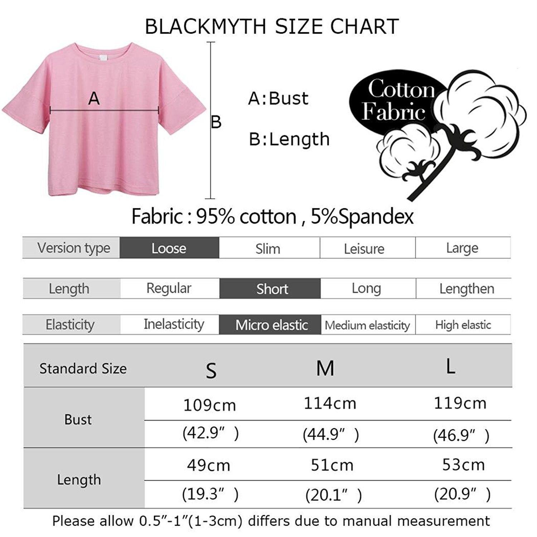 546a33573b8caa Women s Loose T Shirt Short Sleeve Graphic Crop Top Tees - Black ...