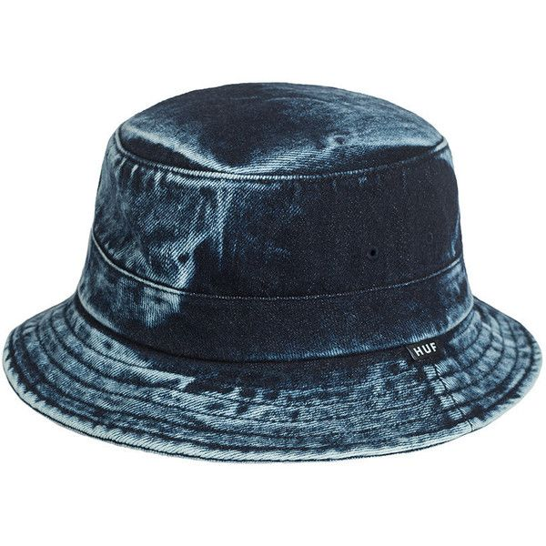 d0fe5ac8969 HUF Washed Denim Bucket Hat ( 31) ❤ liked on Polyvore featuring  accessories