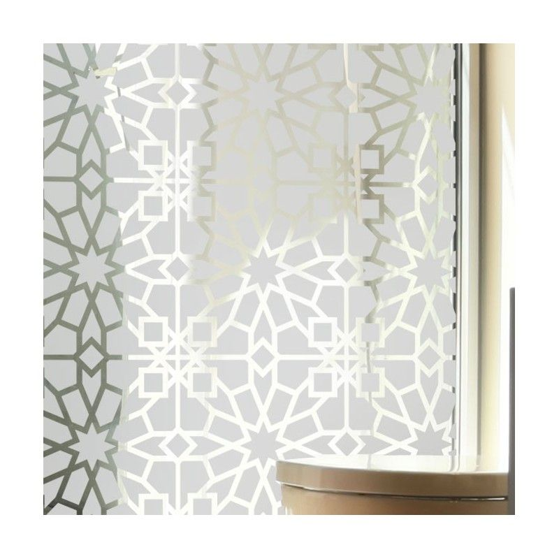sticker vitres motif oriental d co pinterest carreaux de fen tre film occultant et oriental. Black Bedroom Furniture Sets. Home Design Ideas