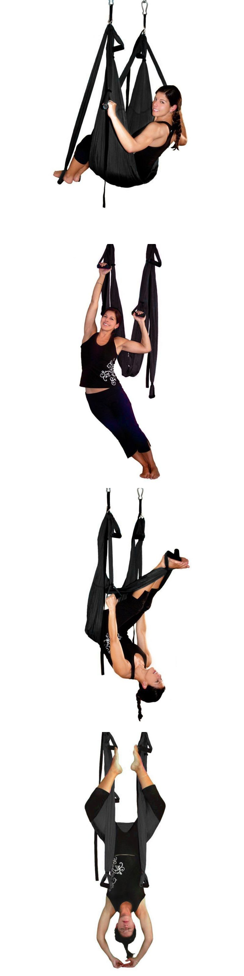 Medium image of yoga props 179809  agptek deluxe aerial yoga hammock yoga inversion sling trapeze for aerial yoga