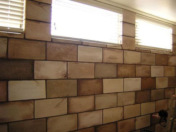 stained cinder block wall google search cinder block on concrete basement wall paint colors id=12991