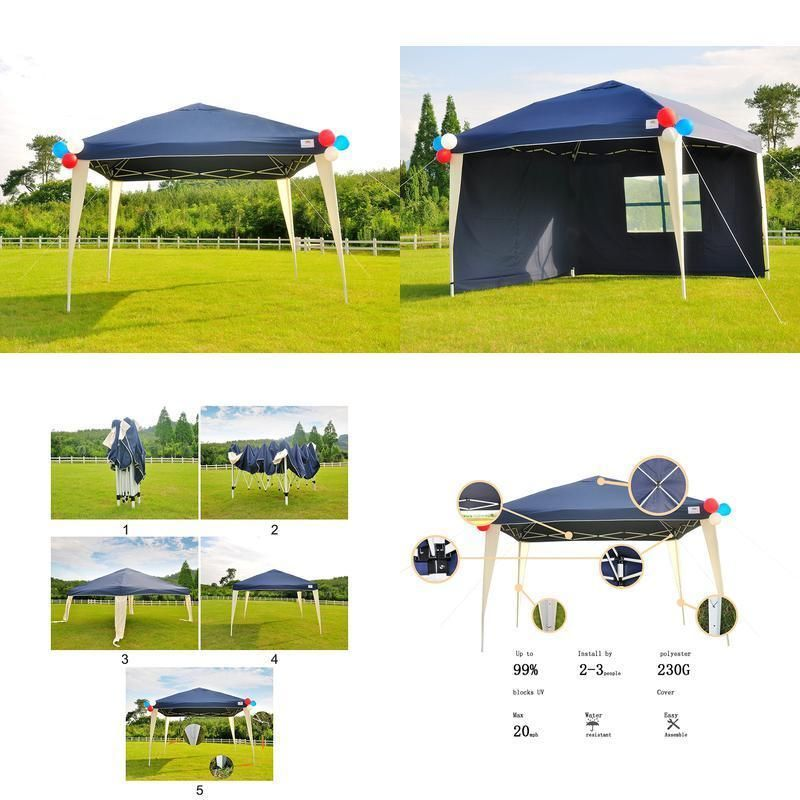 10x10 Pop Up Canopy Heavy Duty Party Tent Outdoor Patio Gazebo Pop Up Canopy Sets Up Quickly And Easily Durable Waterproof Canopy Tent Pop Up Canopy Tent Tent