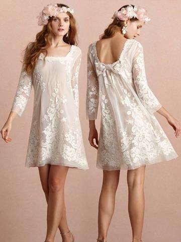 e222d3ddf4 Vestido de novia hippie con manga 3 4