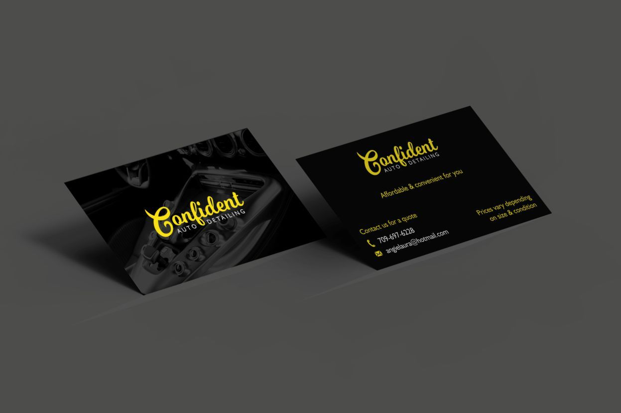 Business card design for an auto detailing company.   Business Card ...