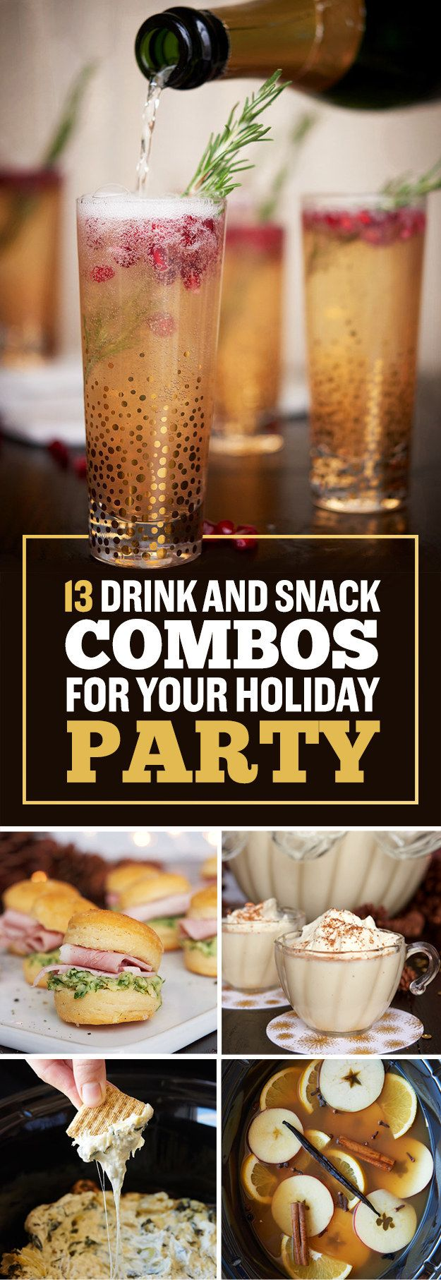 26 Delicious Things To Serve At Your Holiday Party | Pinterest ...