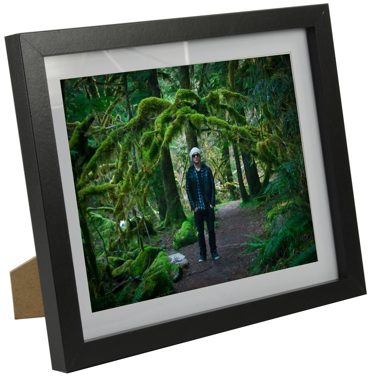 8 X 10 Picture Frame With Removable Mat For Tabletop Or Wall Black Black Photo Frames Picture On Wood Wood Picture Frames