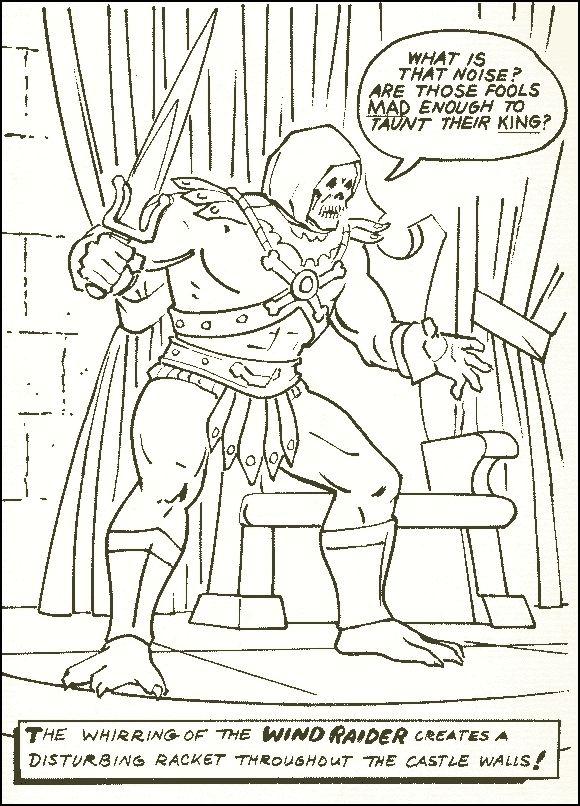Masters of the Universe He Man Skeletor Motu Vintage Coloring