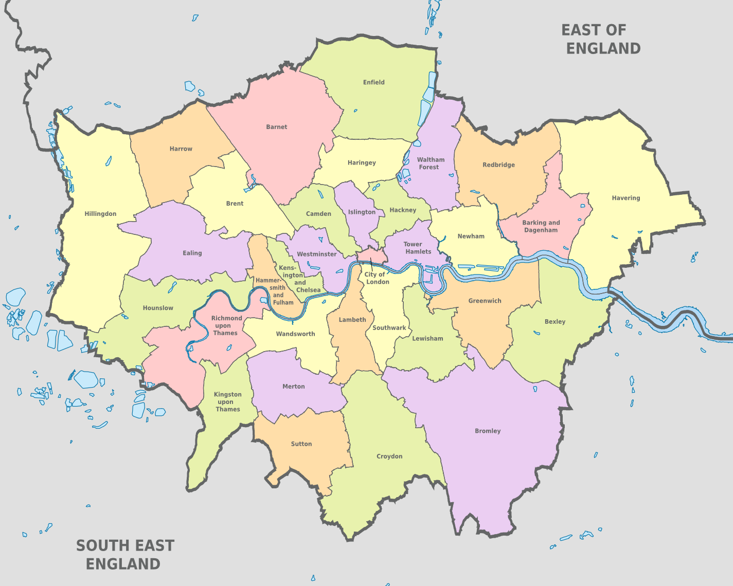 London Map Areas.Map Of London Boroughs Districts Areas London Borough