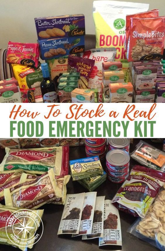 How To Stock a Real Food Emergency Kit #hurricanefoodideas