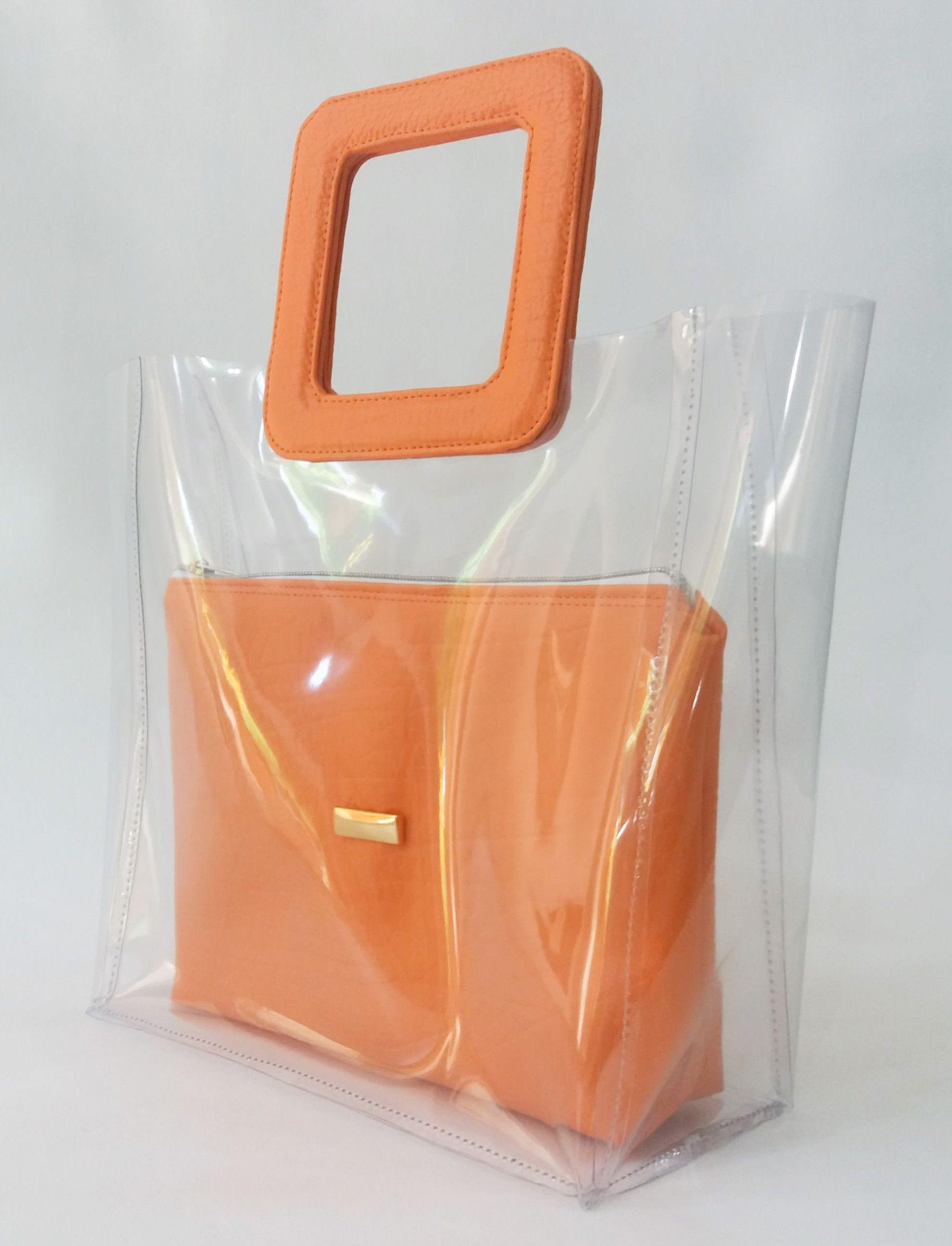 3228fc0f9 Bolsa transparente Bolsa super elegante