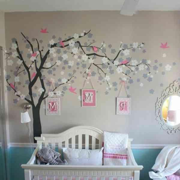 moderne und wundersch ne babyzimmer dekoration idee pinterest. Black Bedroom Furniture Sets. Home Design Ideas
