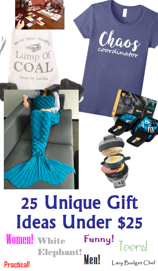 25 Unique Gift Ideas Under Dollars For Men Women And Teens Ranging From Homemade Practical To Thoughtful Funny White Elephant Gag