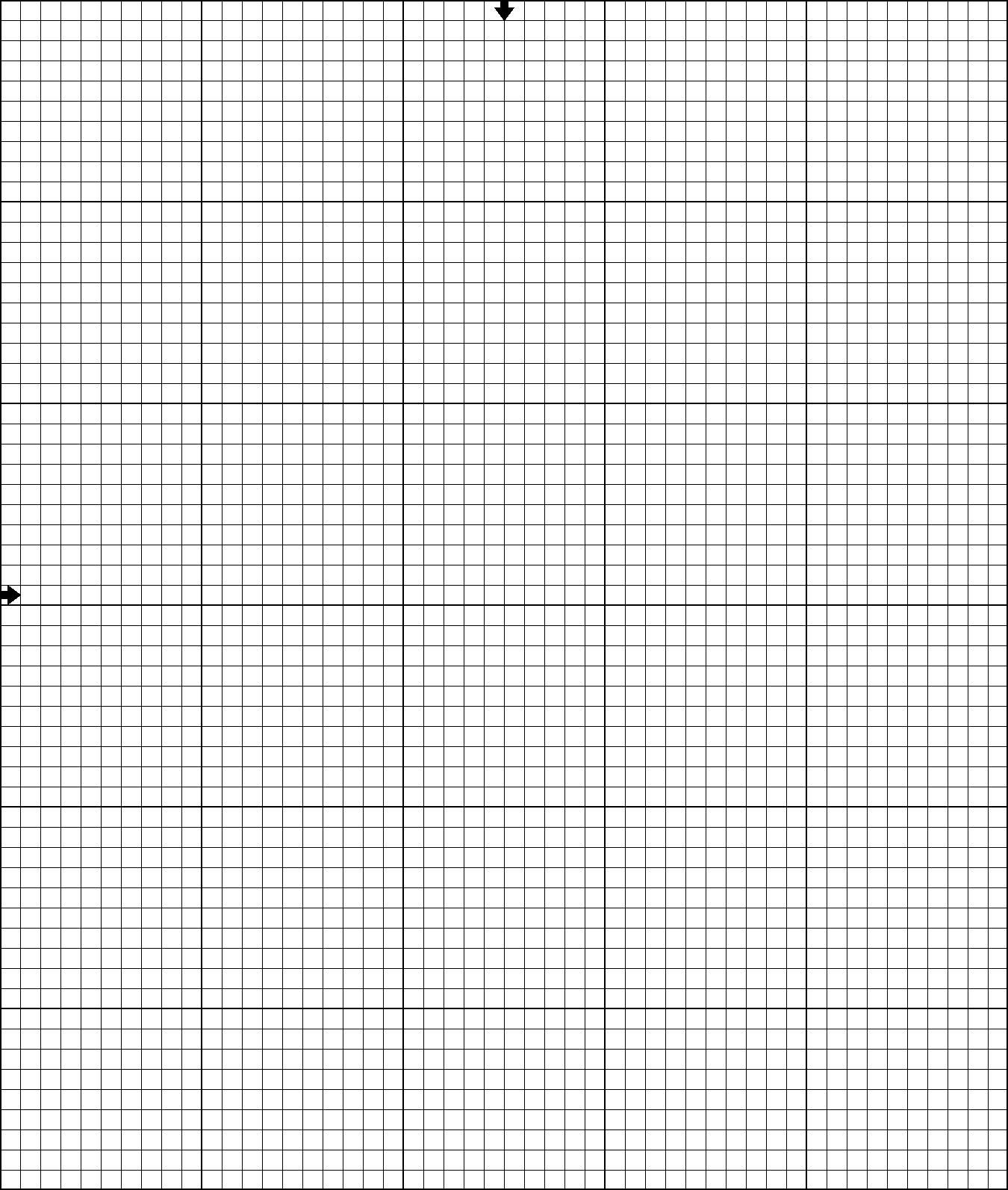 Good Blank Printable Cross Stitch Grid 50 Wide By 60 High