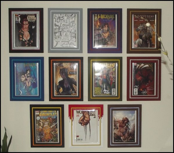 hand crafted custom painted comic book display frames no wood no plastics