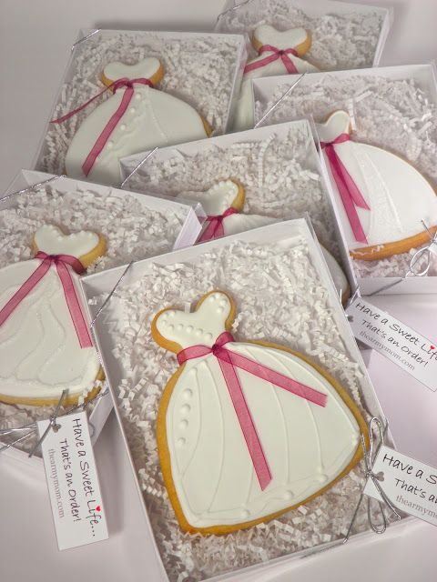 wedding shower cookie favors wedding gown cookies decorated sugar cookies