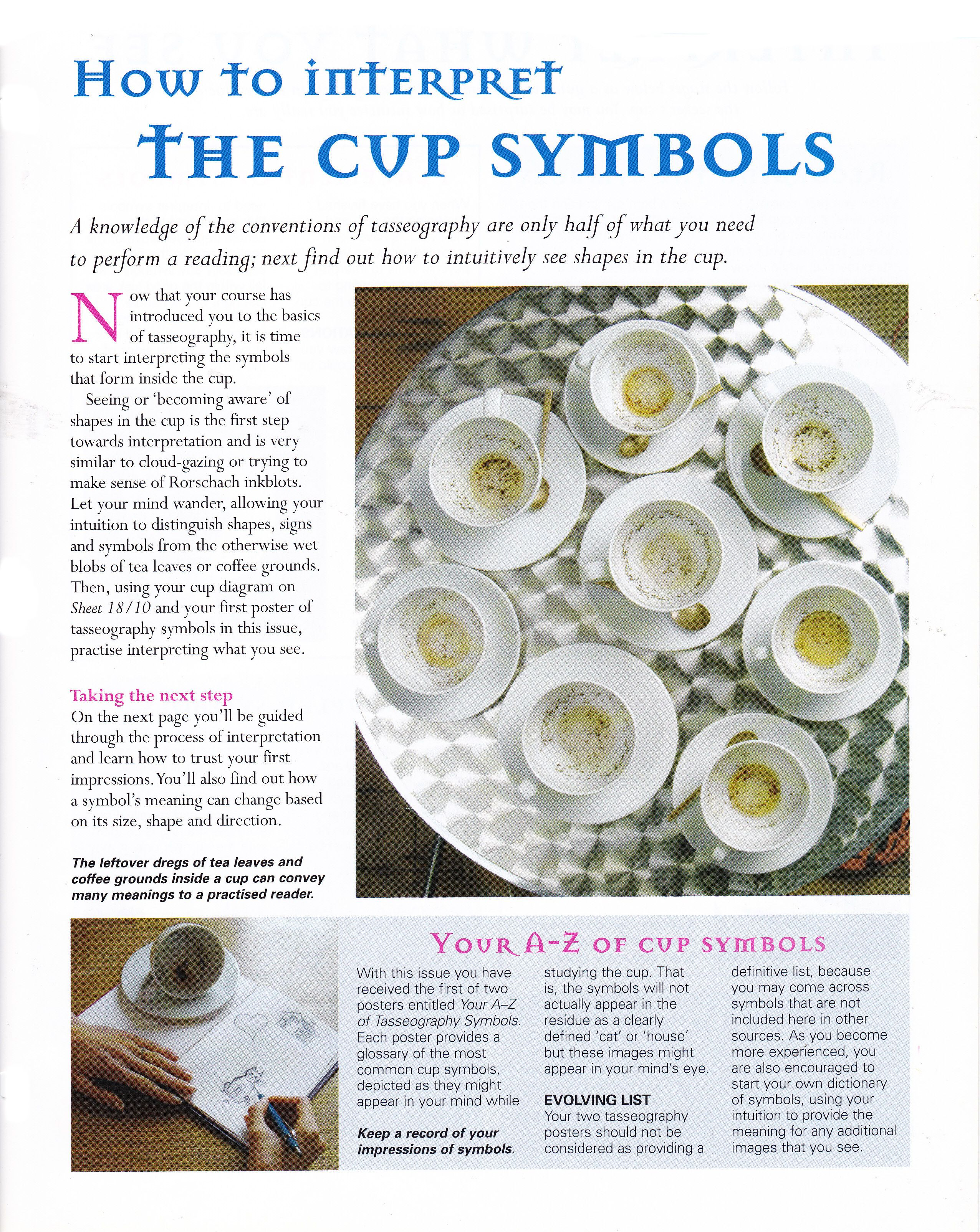 How To Interpret The Cup Symbols Tasseography Numerology Training