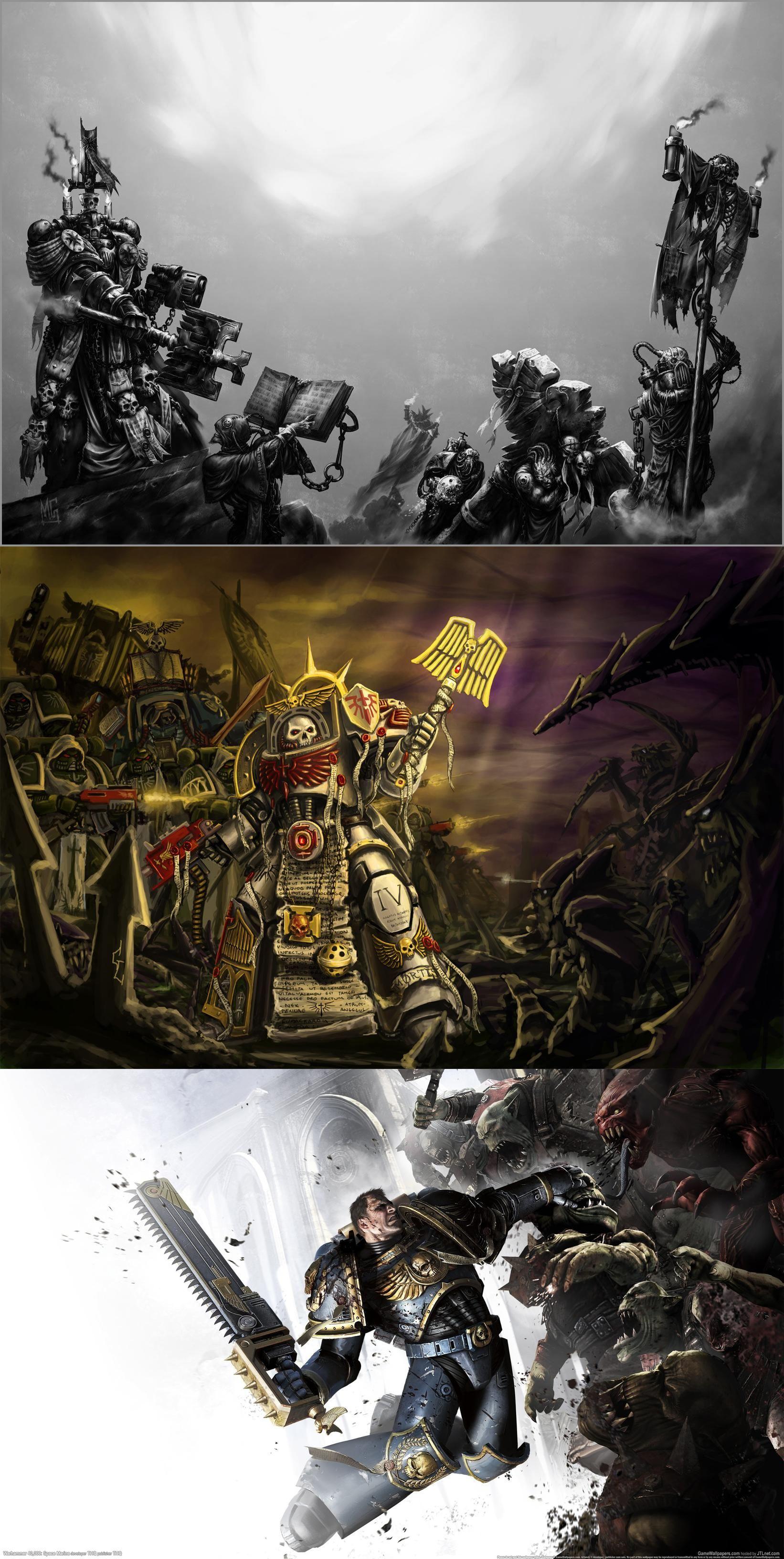 Warhammer 40k, dark angels, the chaplain, the soldiers