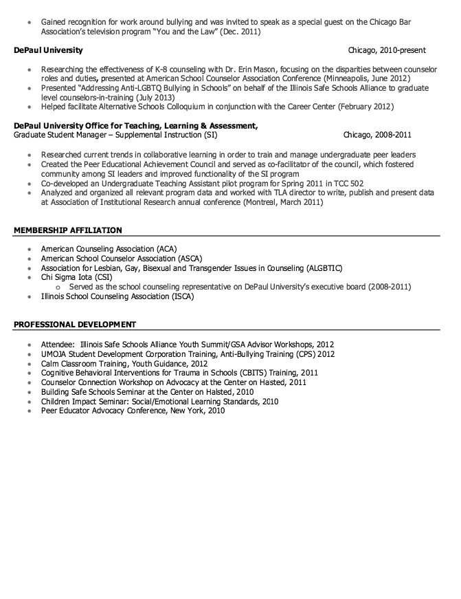 School Counseling Resume Sample - http://resumesdesign.com/school ...