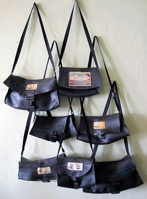 Hand Crafted Rubber Handbags From Scred Truck Tire Liners Recycled