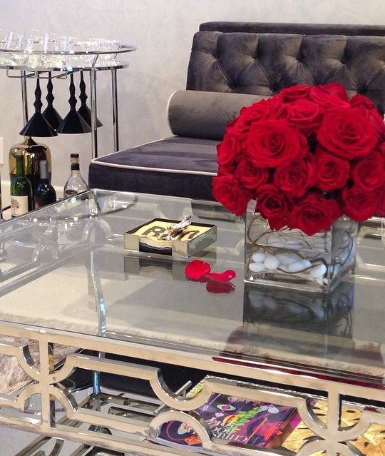 Our Sculptural Abigail Coffee Table And Perfectly Portable Manhattan Bar  Cart Lend A Lustrous Glow To Space. Her Bar Cart Also Features Our Onyx  Martini ...