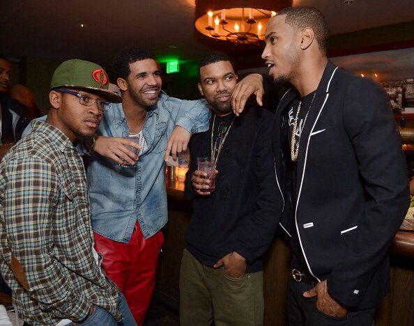 Drake Trey Songz Grammy Party Trey Songz Drake