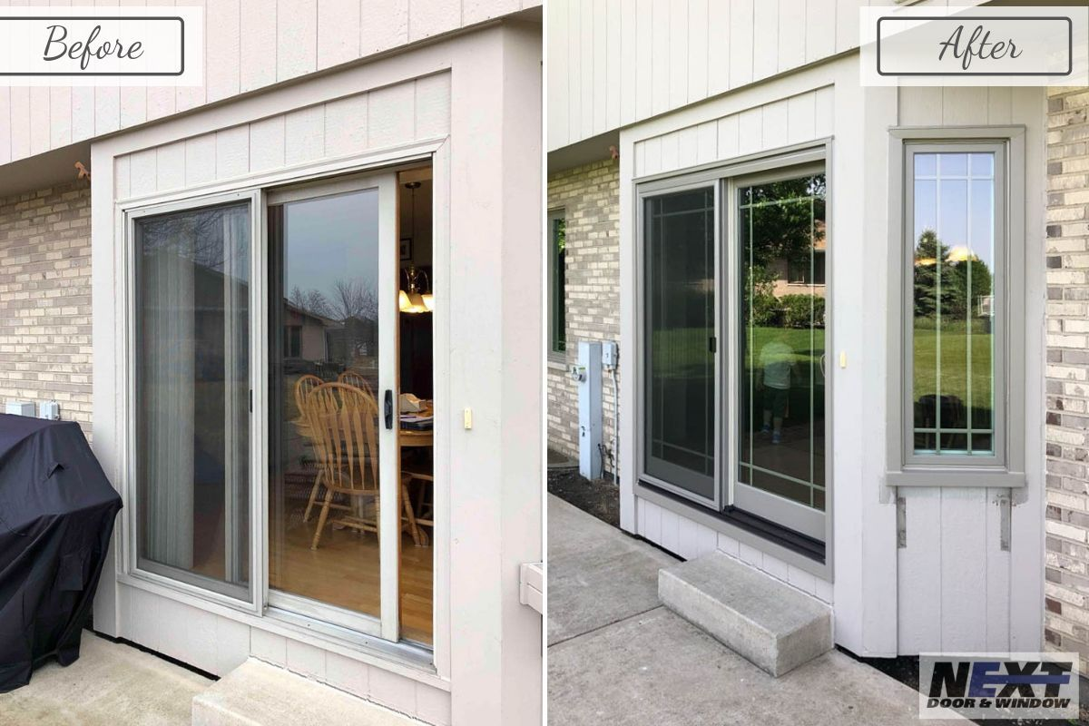 This Tinley Park Patio Door Got Quite The Transformation With Infinity Doors And Windows Is Your Home Ready For An Upgrade Patio Doors Windows Home Remodeling