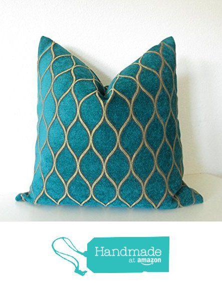 Iman Home Malta Pea Teal Gold Lattice Decorative Pillow Cover From Chic Decor Pillows