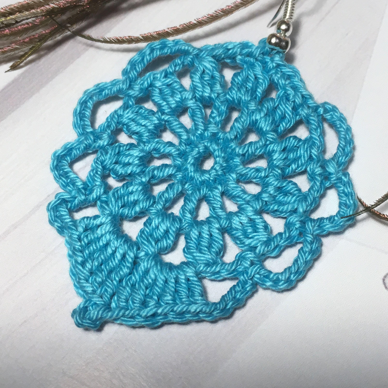 65. ONE Crochet Earrings Pattern, Crochet Earring Pattern, PDF File crochet earrings, elegant model - PDF, easy pattern for beginners #crochetedearrings