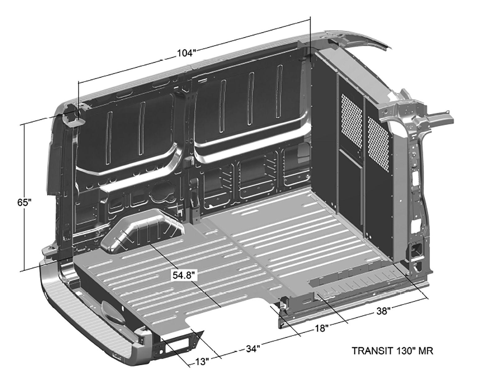 Transit 150 Medium Roof Specs Ford Transit Van Interior Ford Econoline Cargo Van