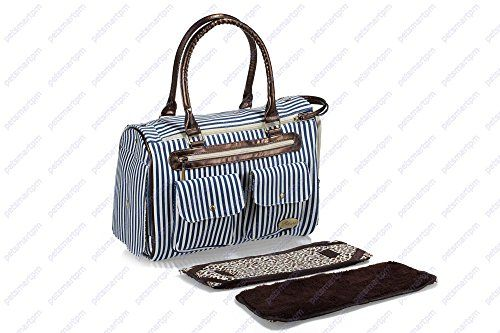 Petsmartpm 223BUT Blue Wide Stripe Canvas Dog Carriers Bag Puppy Totes Purse Pet Carriers Bag Cat Handbag Doggy Cage >>> Want additional info? Click on the image.