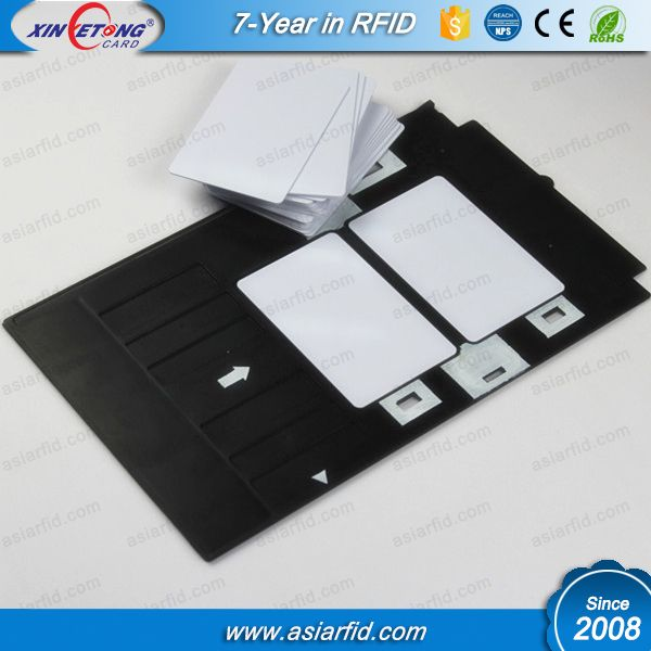 Both sides printable inkjet PVC ID card printing tray for Epson - id card