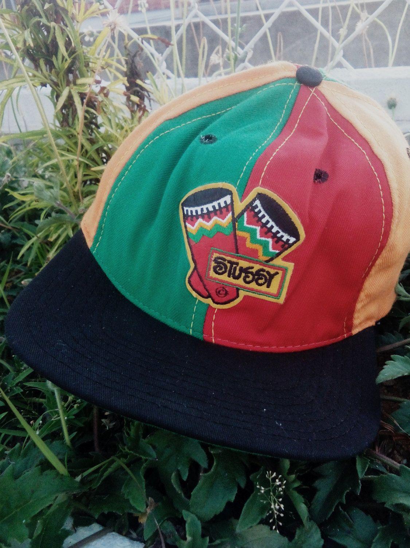 8c1924e647f Vintage Stussy Capz Rasta Bob Marley Swag 80s Cap Hiphop S M super rare by…