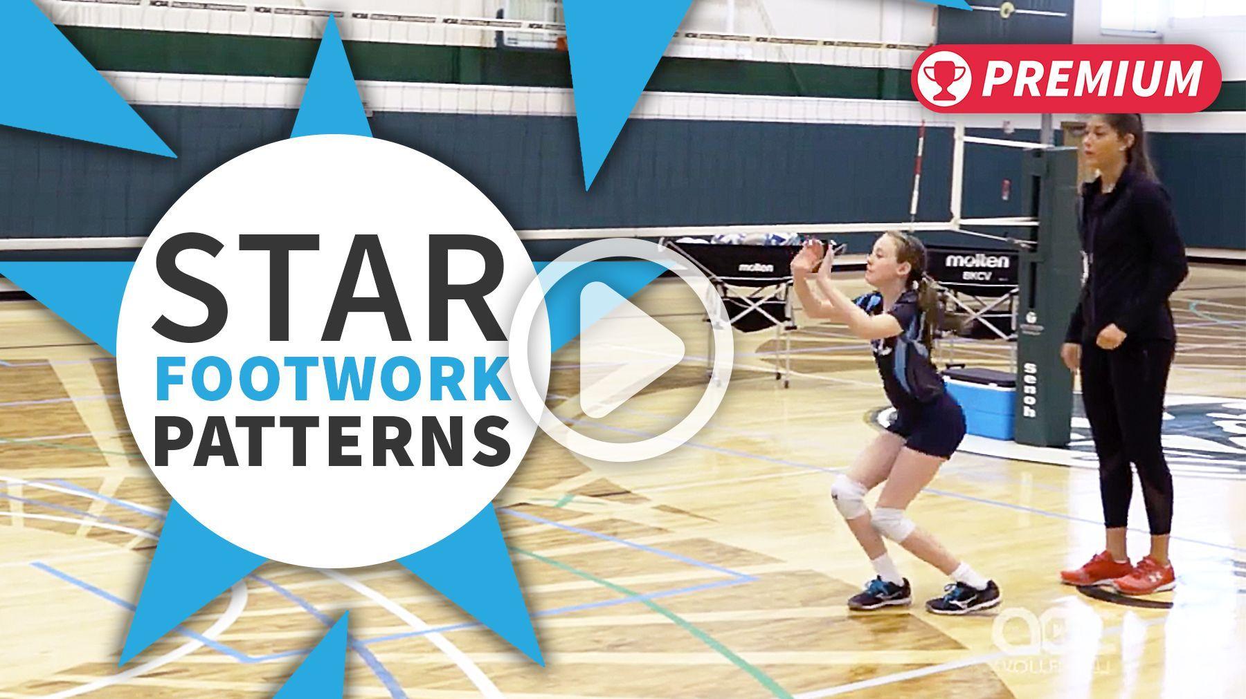Setting Drill Star Footwork Patterns The Art Of Coaching Volleyball Setting Drills Coaching Volleyball Drill