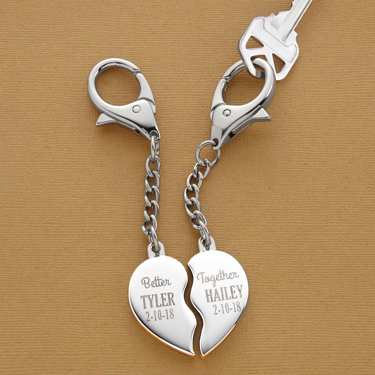 Better Together Heart Key Chain - Diy gifts for boyfriend, Romantic gifts for him, Girlfriend gifts, Diy gifts for him, Thoughtful gifts for him, Boyfriend gifts - A Personal Creations Exclusive! Celebrate true love with a heart that's only complete when the two of you are together