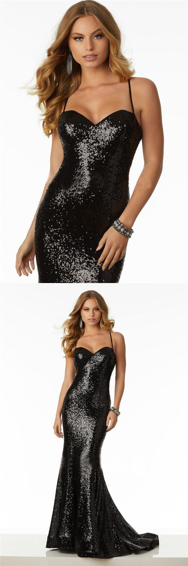 Charming red gold black sequin sparkly prom dresses party formal