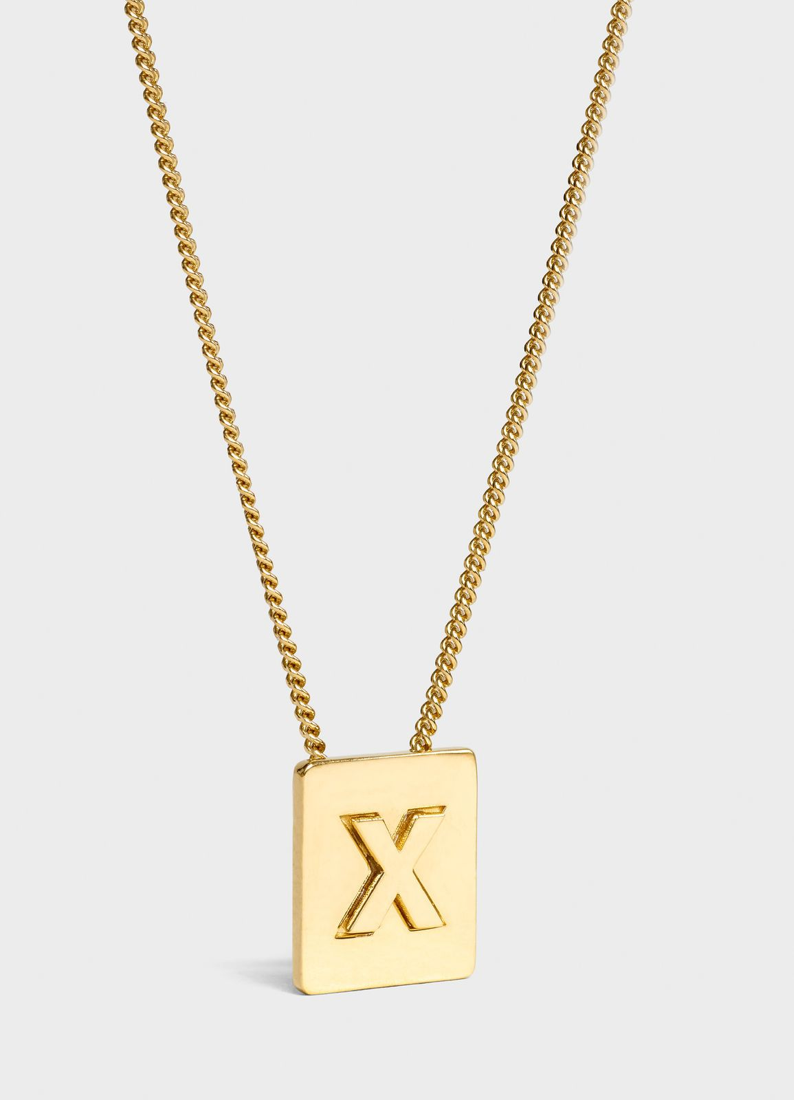 ed310bed3b6d6e Alphabet X necklace in brass with gold finish | Acc | Gold, Gold ...