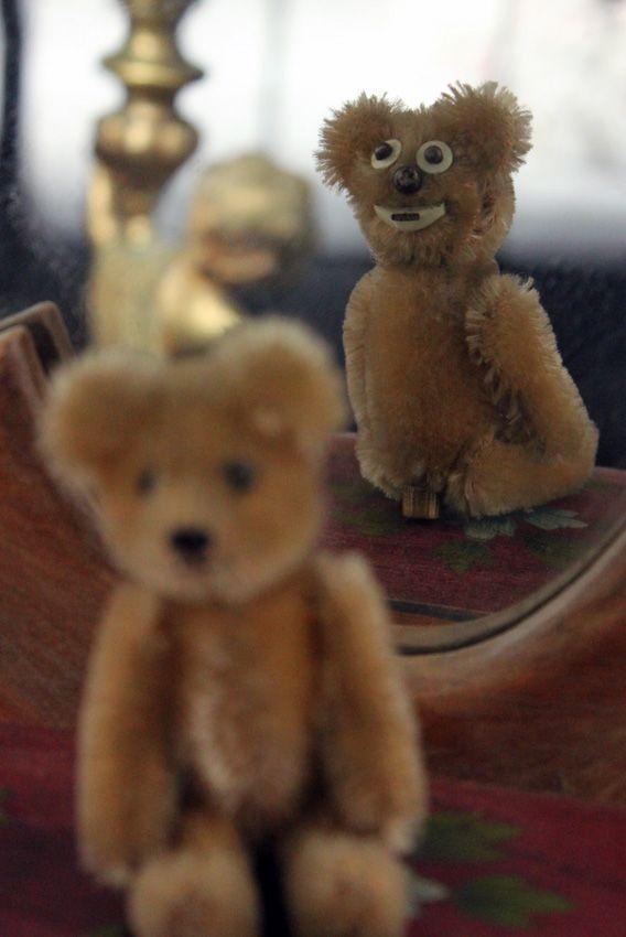 Schuco Janus -bear 1954. Suomenlinna Toy Museum.