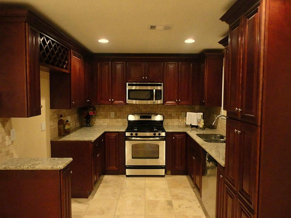 Furniture. Best Design Ideas Of Mahogany Kitchen Cabinets. Qrixie ...